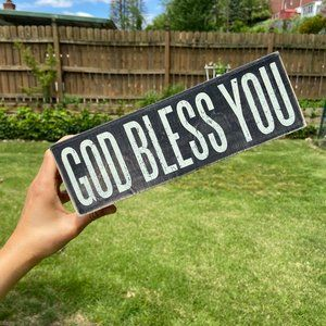 Other - God Bless You Tissue Box Cover Rustic Home Decor